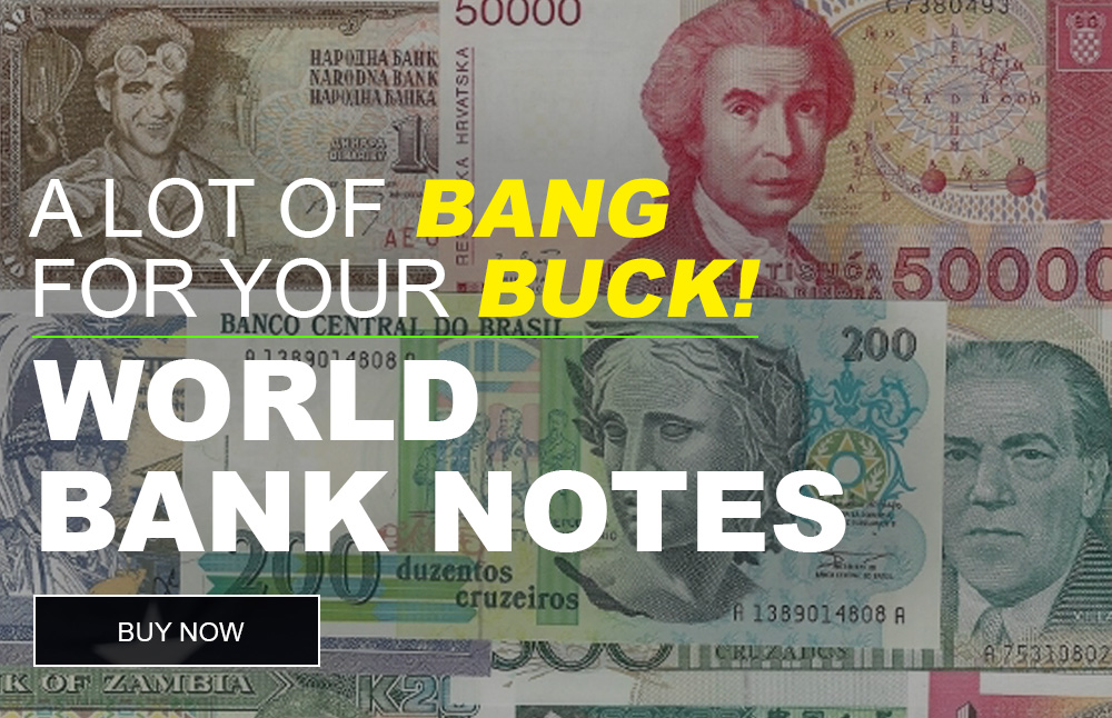 World bank notes for sale